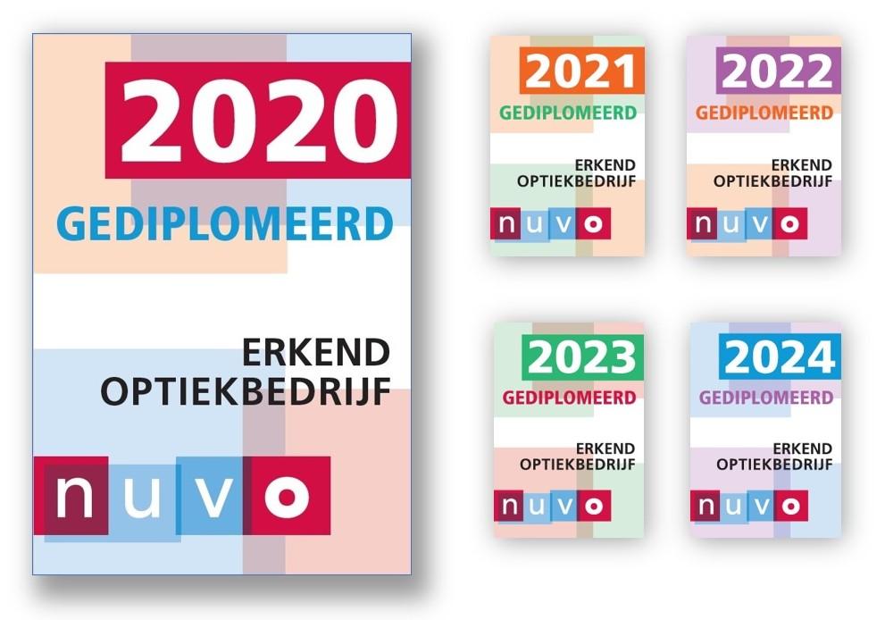Nieuwe NUVO-sticker: 'Gediplomeerd 2020'