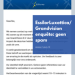 EssilorLuxottica/Grandvision enquête: geen spam