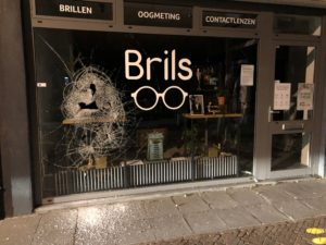 inbraak optiekzaak Brils