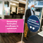 Aanpassing sectorplan optiek: mondkapjes in optiekzaak [november 2020]