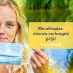 Nieuw tarief mondkapjes: lagere prijs!