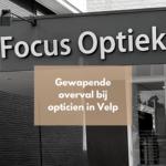 Gewapende overval bij opticien